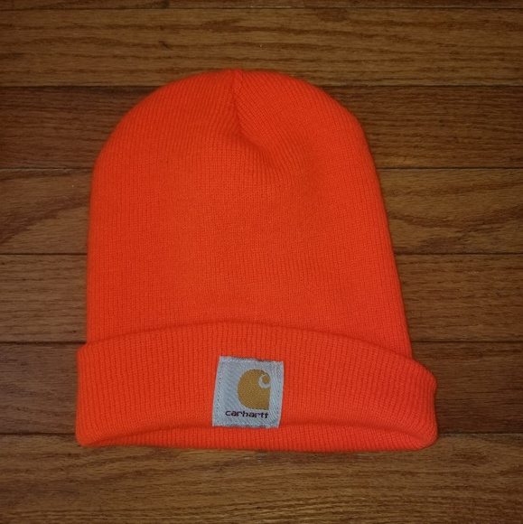 Carhartt Other - Mens Carhartt Beanie Bright Orange Nice b6b57574546